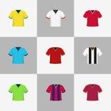 Van de de overhemdenillustratie van de voetbalvoetbal het pictogramreeks Royalty-vrije Stock Foto's