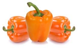 Van de de paprikapaprika van de groene paprikapeper oranje plantaardige het voedselisola Stock Foto's