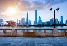 Van de de Parelrivier van China Guangzhou de Nieuwe Stad stock afbeeldingen
