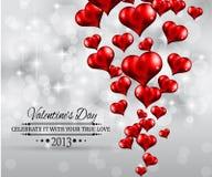 Van de de partijuitnodiging van de Dag van valentijnskaarten de vliegerachtergrond Stock Afbeeldingen