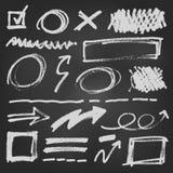 Van de de penpijl van de notitieboekjekrabbel Vector de Illustratiereeks Stock Fotografie