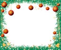 Van de de pijnboomboom van Kerstmis de takkenfra vector illustratie