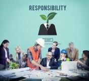 Van de de Plichtstaak van verantwoordelijkheidsrollen de Verplichtings Verantwoordelijk Concept royalty-vrije stock foto