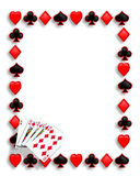 Van de de pookgrens van speelkaarten de koninklijke vloed Royalty-vrije Stock Afbeeldingen