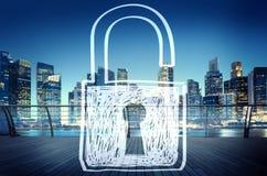 Van de de Privacyveiligheid van het toegankelijkheidswachtwoord de Beschermingsconcept Royalty-vrije Stock Afbeelding