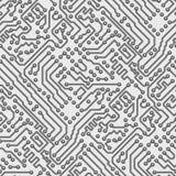 Van de de raads het vectorcomputer van de kring naadloze patroon Stock Fotografie