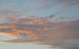 Van de de reis betrekt de bewolkte zomer van de wolkenzonsondergang van de de mistdag van de de tijdtijdspanne timelapse van het  Royalty-vrije Stock Fotografie