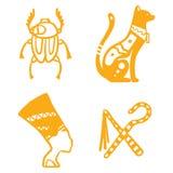 Van de de reisgeschiedenis van Egypte van de het ontwerp traditionele hiëroglief sybols hand getrokken vector de illustratiestijl vector illustratie