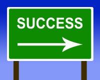 Van de de richtingsweg van het succes de straatteken en de hemel Stock Afbeeldingen
