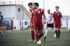 Van de de Rotskop van Gibraltar het Kwartdef. - voetbal - Europa 2-0 Europa Punt Royalty-vrije Stock Afbeeldingen
