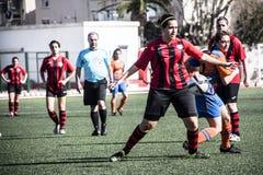 Van de de Rotskop van Gibraltar het Kwartdef. - voetbal - Manchester 62 0 Stock Foto's