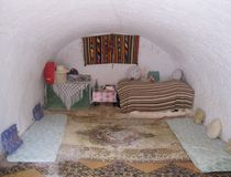 Van de de ruimteholbewoner van het meisje het huis Tunesië Royalty-vrije Stock Afbeelding