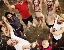 Van de de Samenhorigheidseenheid van de de zomervriendschap het Plezierconcept stock foto