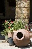 Van de de scène historische architectuur van de straat lefkosia Cyprus Stock Fotografie