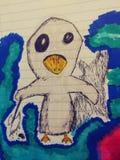Van de de schetskunst van de tekeningsillustratie trippy psychadellic willekeurige koel pics Stock Afbeelding