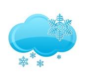 Van de de sneeuwwolk van het weer het symbool blauwe kleur Royalty-vrije Stock Foto's