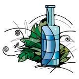 Van de de sodafles van het wijnsap steineglas Stock Foto