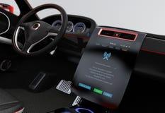 Van de de software enkel aanraking van het updatevoertuig de console van het de auto'scentrum royalty-vrije stock afbeelding