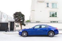 Van de de sportsedan van Maserati Ghibli de testaandrijving Royalty-vrije Stock Afbeeldingen