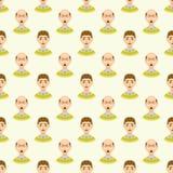 Van de de stadiamens van het haarverlies het naadloze die patroon en soorten kaalheid op mannelijk hoofd wordt geïllustreerd Stock Fotografie