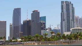Van de de stadsbaai van Miami van de de zomerdag panorama het van de binnenstad 4k Florida de V.S. stock videobeelden