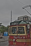 Van de de Stadscirkel van Melbourne de Tram HDR Stock Afbeelding
