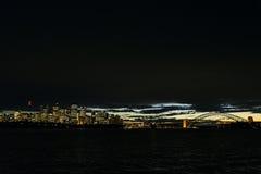 Van de de stadshaven van Sydney de zonsonderganghorizon in Australië Royalty-vrije Stock Fotografie