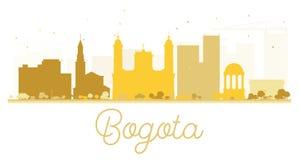 Van de de Stadshorizon van Bogota het gouden silhouet Royalty-vrije Stock Foto's