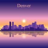 Van de de stadshorizon van Denver het silhouetachtergrond Royalty-vrije Stock Fotografie