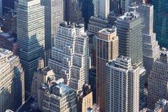 Van de de Stadshorizon van New York de luchtmening met moderne wolkenkrabbers Royalty-vrije Stock Fotografie