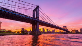Van de de Stadshorizon van New York de Tijdtijdspanne stock video