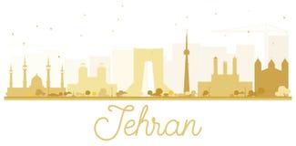 Van de de Stadshorizon van Teheran het gouden silhouet Royalty-vrije Stock Afbeelding