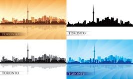 Van de de stadshorizon van Toronto het silhouetreeks Stock Foto