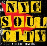 Van de de Stadstextuur van New York de T-shirt Grafisch Ontwerp Stock Afbeeldingen