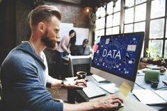 Van de de Statistiekentechnologie van de gegevensinformatie de Analyseconcept Royalty-vrije Stock Afbeelding