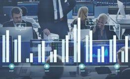 Van de de Statusinformatie van het Analyticsrapport van de de Analysegrafiek de Grafiekconcept Royalty-vrije Stock Afbeeldingen