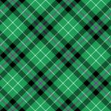 Van de de stoffentextuur van het Hibernian fc geruite Schots wollen stof het diagonale naadloze patroon vector illustratie