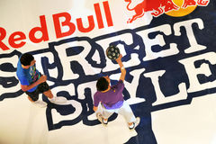 Van de de straatstijl van Red Bull de concurrentiedef. Royalty-vrije Stock Foto