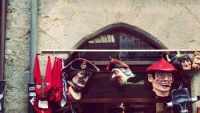 Van de de Straatwinkel van Pamplona de Oude Stad Europa Stock Foto's