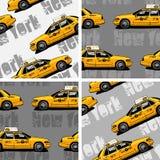Van de de Taxicabine van New York de Gele naadloze achtergrond Royalty-vrije Stock Afbeeldingen