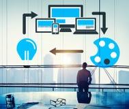 Van de de Technologielay-out van het Webontwerp Online het Ontwerpconcept Stock Afbeelding