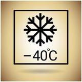 Van de de Temperatuurbescherming van het pakketpictogram het Breekbare Teken Royalty-vrije Stock Afbeeldingen