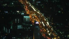 Van de de tijdtijdspanne van het stadsverkeer gezoem 1 stock footage