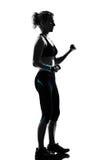 Van de de traininggeschiktheid van de vrouw de houdingsgewichtheffen Stock Fotografie