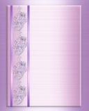 Van de de uitnodigingsgrens van het huwelijk de elegante lavendel Royalty-vrije Stock Afbeeldingen