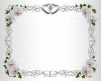 Van de de uitnodigingsGrens van het huwelijk de orchideeënklimop stock illustratie