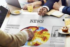Van de de Uitzendingsaankondiging van het nieuwsvoer de Gebeurtenissenconcept Royalty-vrije Stock Afbeeldingen