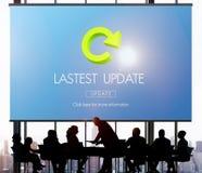 Van de de Updatestoepassing van de Lastestversie Vers de Updatesconcept stock foto's