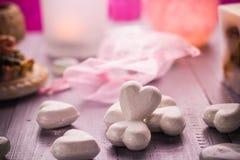 Van de de Valentijnskaartendag van de kuuroordsamenstelling van de het hartliefde het lichaamsgezondheid Stock Afbeelding