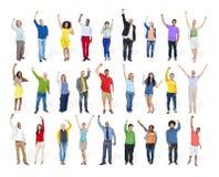 Van de de Variatiesamenhorigheid van het diversiteitsbehoren tot een bepaald ras de Multi-etnische Eenheid Te Stock Afbeelding